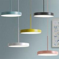 Простые современные светодиодный подвесной светильник железа акрил HangLampen Лофт Nordic Дизайн подвесной светильник освещения дома деко Lampara