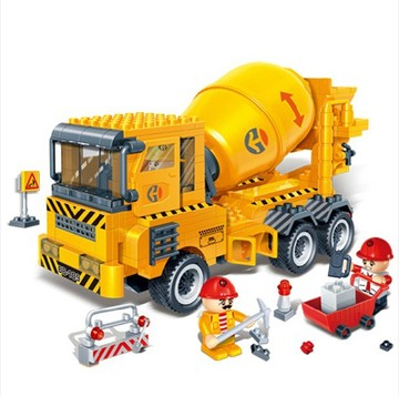Banbao 8535 City Construction Cement Mixer Car 315 pcs Plastic Model Building Block Sets DIY Bricks Toys Educational block Toys