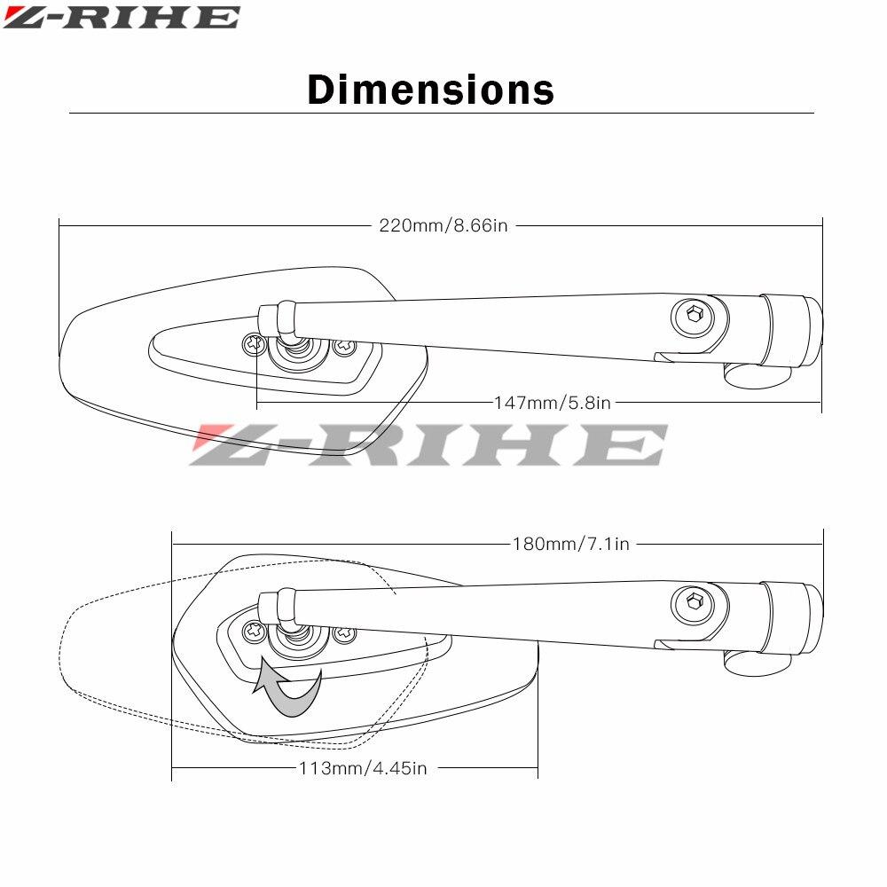 Motorcycle Mirrors Motorbike Moto Rearview Side Mirror Aluminum For 2000 Hayabusa Wiring Diagram In Addition 2006 Suzuki Gsx1300r Gsx600 Gsxr750 Csr1000 2004 2017 Accessories