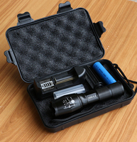 3800LM LED Flashlight CREE XM L2 Aluminum Torch Zoomable LED Torch Lamp For 3XAAA Or 18650