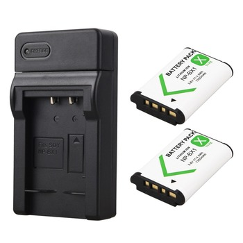 2x1350mAh Bateria NP-BX1 NP BX1 Battery+ USB Charger for Sony DSC RX1 RX100 M3 M2 RX1R GWP88 PJ240E AS15 WX350 WX300 HX300 HX400 image