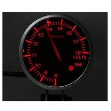 Универсальный Вольтметр Манометр Метр 8-18 В Гонки 2.5 дюймов Автомобилей Калибр Вольт калибр 60 мм Автоматический Измерительный Прибор для WRX STI EVO FPV RX3 RX7 S15