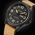 Часы CURREN Мужские  армейские  кварцевые  аналоговые  кожаные  спортивные