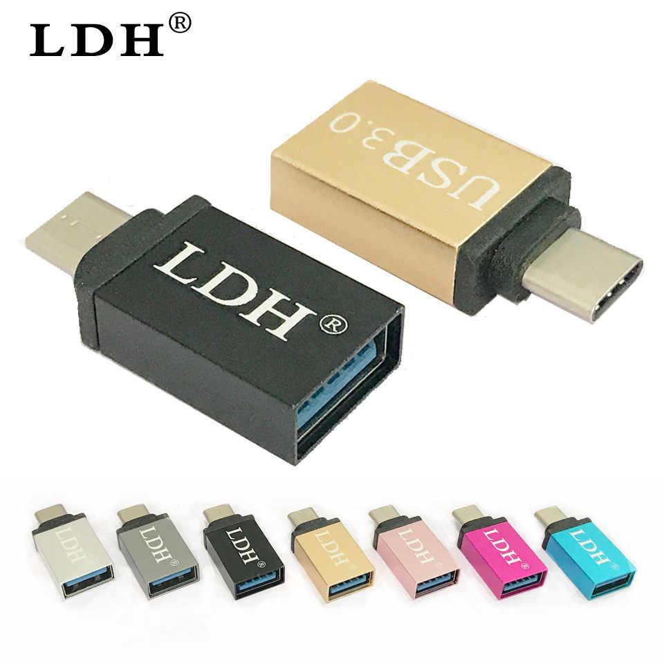 LDH USB-C 3.1 TYPE C Male Ke USB 3.0 Kabel Adaptor OTG Type C Data Sync Charger untuk Smartphone