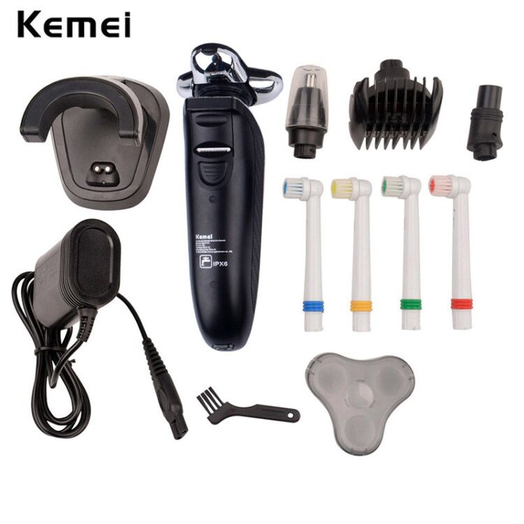 4-in-1 Multifunction Rechargeable Replaceable Electric Toothbrush 4 Toothbrush Head Nose Trimmer Hair Clipper electric shaver female head teachers administrative challenges in schools in kenya