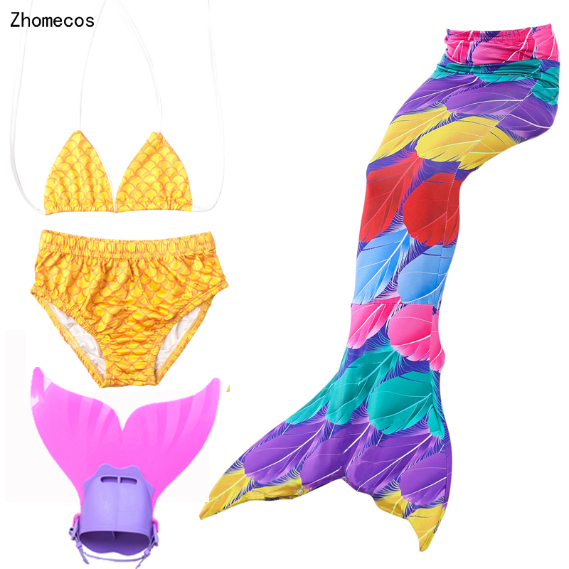 2018 Hot ! Girl's Mermaid Tails For Swimming Costumes with Monofin Kid Zeemeerminstaart Cola De Sirena Cauda De Sereia Cosplay