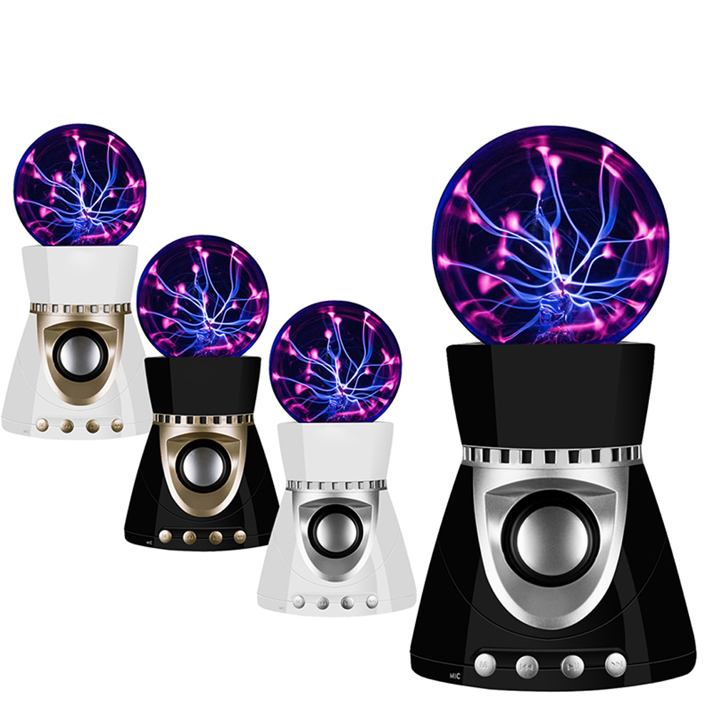 ФОТО TSLEEN PLASMA ION LIGHTNING BALL LAMP MINI WIRELESS BLUETOOTH SPEAKER TF/USB/CALL/AUX 4 COLORS SHELL MAGIC MUSIC ENJOY