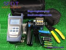 FTTH Fibra Óptica Kit de Herramienta de Terminación con Cuchilla De la Fibra. Medidor de potencia, Stripper, Etc. 18 unids/set