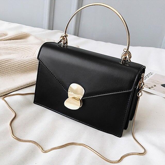 ETAILL 2019 Fashion Famous Luxury Brand Flap Women Bag Pu Leather Shoulder Bag Women Messenger Bags Golden Chain Small Bag