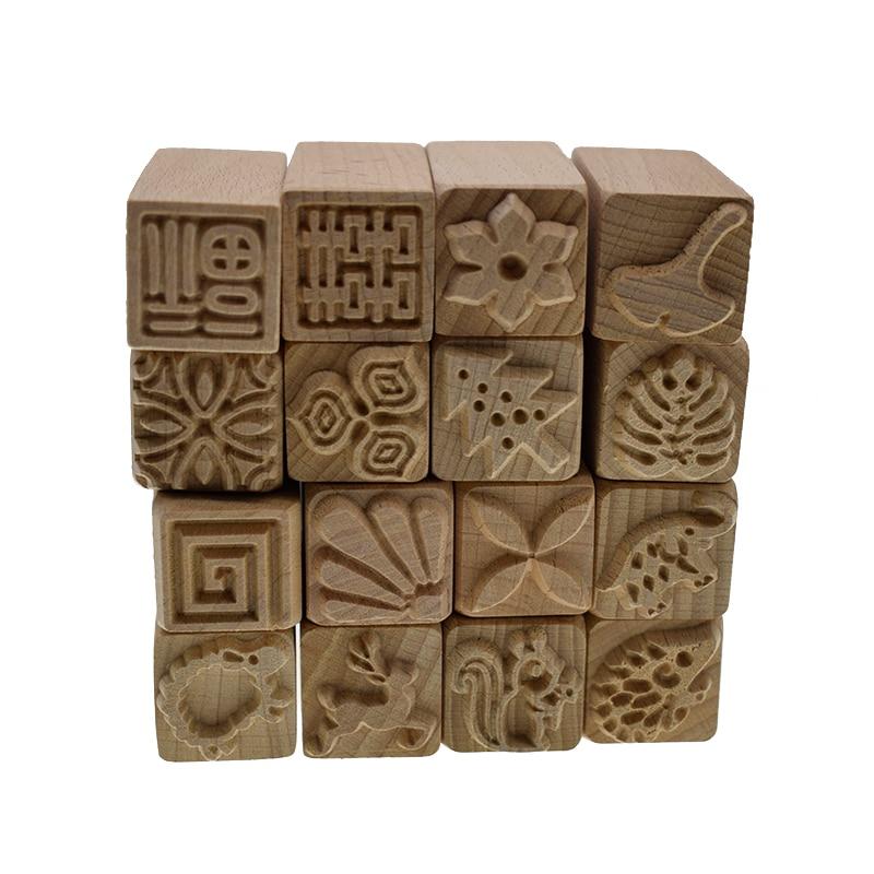 Blockprint Floral Hand Carvedooden Stamp Printing Block Scrapbook Stamp 2 X 2