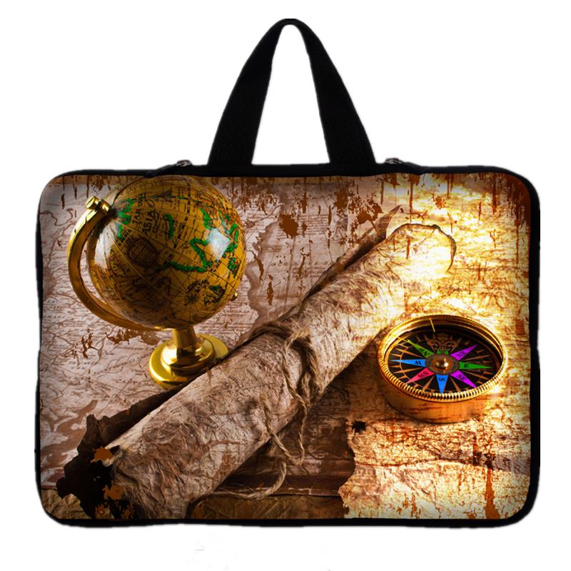 9.7 11.6 12 13 13.3 14 15 15.6 17 17.3 inch Compass Notebook Computer Laptop Sleeve Bag for Men Women Ultrabook Cover Case