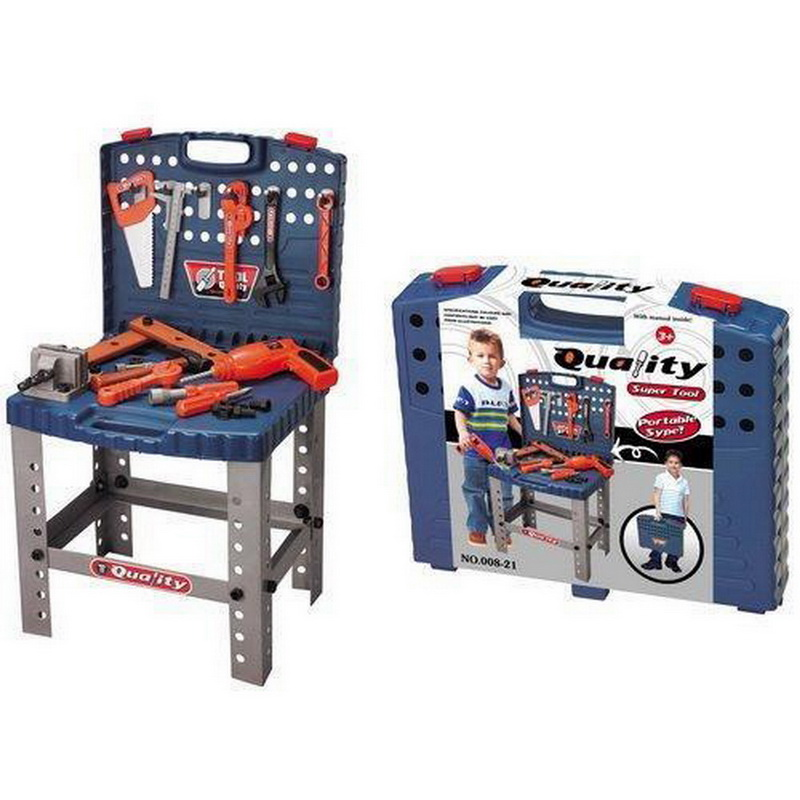 2016 New Arrival Kids Play Pretend Toy Tool Set Workbench