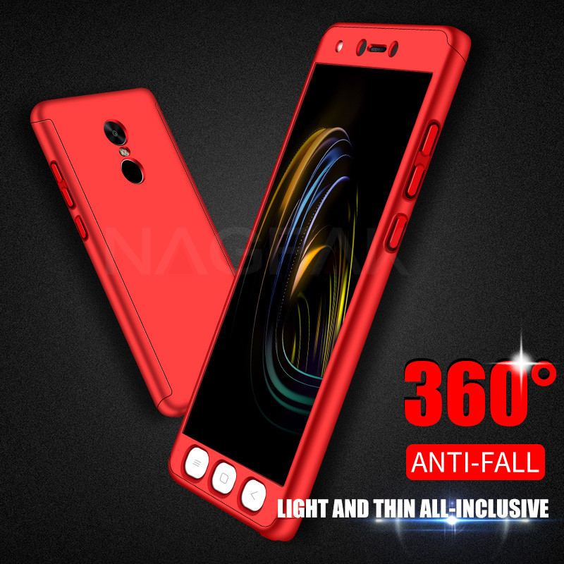 Image 2 - NAGFAK Роскошный 360 градусов чехол для телефона на для Xiaomi Redmi Note 4 4X матовый противоударный чехол для Note4 чехол для глобальной версии стекло-in Бамперы from Мобильные телефоны и телекоммуникации on AliExpress