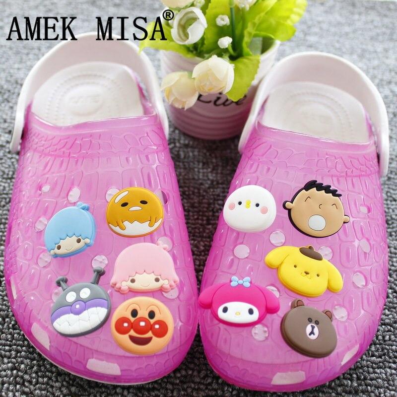 10Pcs/Lot PVC Cartoon Shoe Decorations Soreike! Anpanman Shoes Charms Accessories Fit Children's Gifts/Croc/Wristband/JIBZ D35