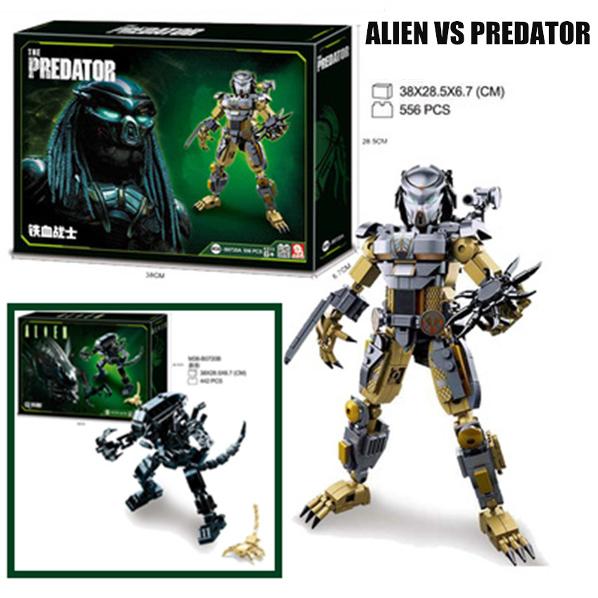 New ALIEN VS PREDATOR Robot War fit legoings star wars robot figures technic Building Blocks bricks Creator Bricks Toy kid gift