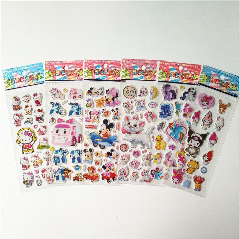 KöStlich 60 Stücke Verschiedene 3d Puffy Blase Aufkleber Cartoon Spiderman Hallo Kitty Mickey Dragon Ball Aufkleber Set Spielzeug Geschenk Für Kinder Kinder
