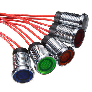 8mm LED Auto Car Vehicle Dash Panel Pilot Indicator Instrument Light Signal Lamp Red Blue Green White Yellow 12V Car Styling