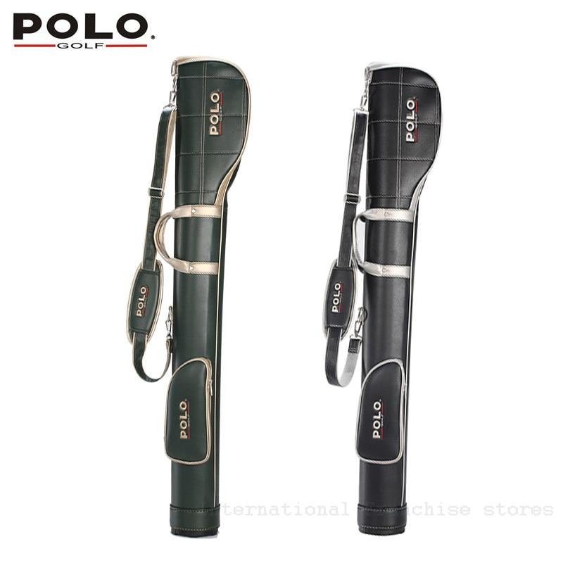 цены Top Sale POLO Authentic Golf Mens Gun Bags High Quality PU Waterproof Rubber Ball Bags Travel 5-6 Clubs Bag Bolsas Golf Mujer