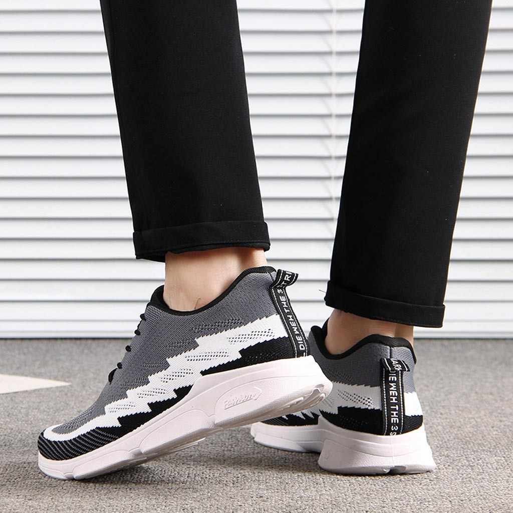 2019 Ilkbahar Yaz Yeni Moda Erkekler Nefes Örgü Ayakkabı Spor Ayakkabı rahat ayakkabılar Öğrenci Erkek Havalandırma koşu ayakkabıları