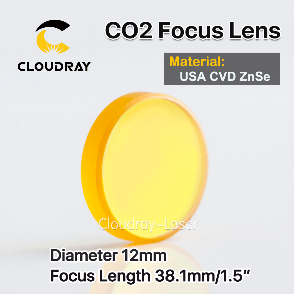 Cloudray USA CVD ZnSe Focus Lens Dia. 12mm FL 38.1mm 1.5 for CO2 Laser Engraving Cutting Machine Free Shipping usa cvd znse focus lens dia 28mm fl 50 8mm 2 for co2 laser engraving cutting machine free shipping
