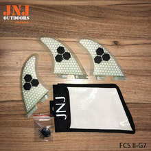 JNJ top quality FCS II G7 L surfboard fins fcs 2 Large thruster fin made by fiberglass and honeycomb with strong bag