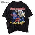 Fashion Summer T shirt Men Iron Maiden  3D Style Streetwear Men's T-shirt 100% Cotton Casual Short Sleeves Top Tees