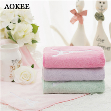 Brand Microfiber Face Towels Baby Travel Coral Velvet Bath Towels Kids  Eiffel Tower Patten Face Towels