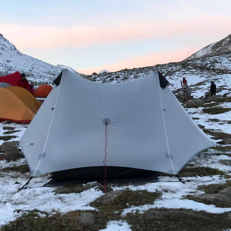 3F UL dişli 2019 lanshan 2 çadır 2 kişi açık Ultralight kamp çadırı 3 sezon profesyonel 15D Silnylon Rodless çadır 4 sezon