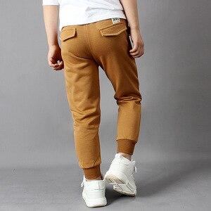 Image 4 - IIMADFWIW Çocuk Pantolon 2019 Ilkbahar Sonbahar Yeni Erkek spor pantolon Öğrenciler Pamuk Gevşek Rahat Renk Gri/Siyah/Kahverengi