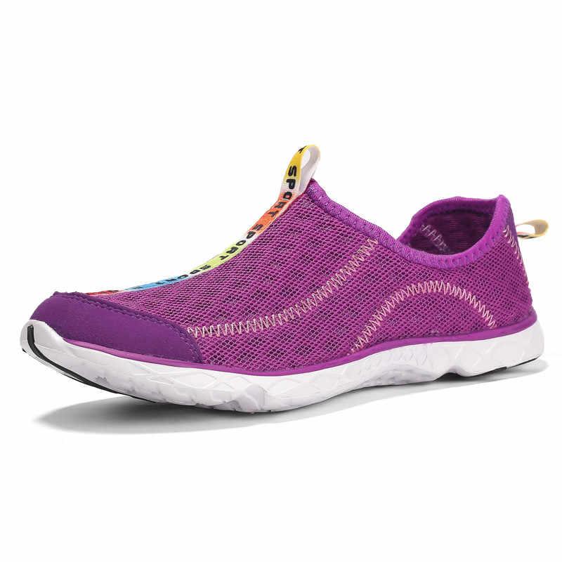 Unisex của Nam Giới mùa hè ngoài trời giày lội Thở giày Lưới Người Đàn Ông của Giày Phẳng Giày Người Đàn Ông Thoải Mái Giày Thường Giày Thể Thao Kích Thước 35-47