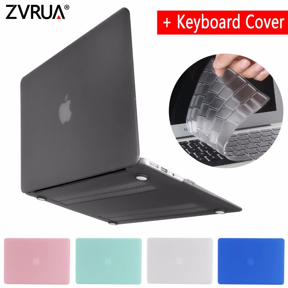 Nueva caja del ordenador portátil para APPle MacBook Air Pro Retina 11 12 13 13,3 15 15,4 pulgadas con Touch Bar 2017 a1706 A1707 A1708 + cubierta del teclado