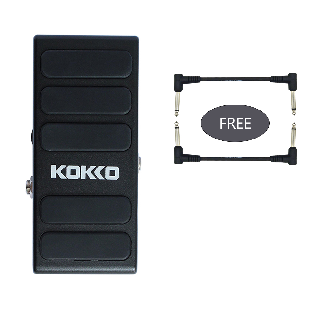 KOKKO Wah Pedal Hot Spice Switchable Between Wah Mode and VOL Mode DC9V Input Guitar Effect Pedal free 2pcs effects cable стоимость