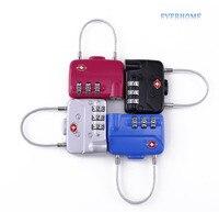 Yüksek Kalite Mekanik kod kilidi, gümrük kod kilidi, bagaj çantası Kilit, üç şifre asma kilit