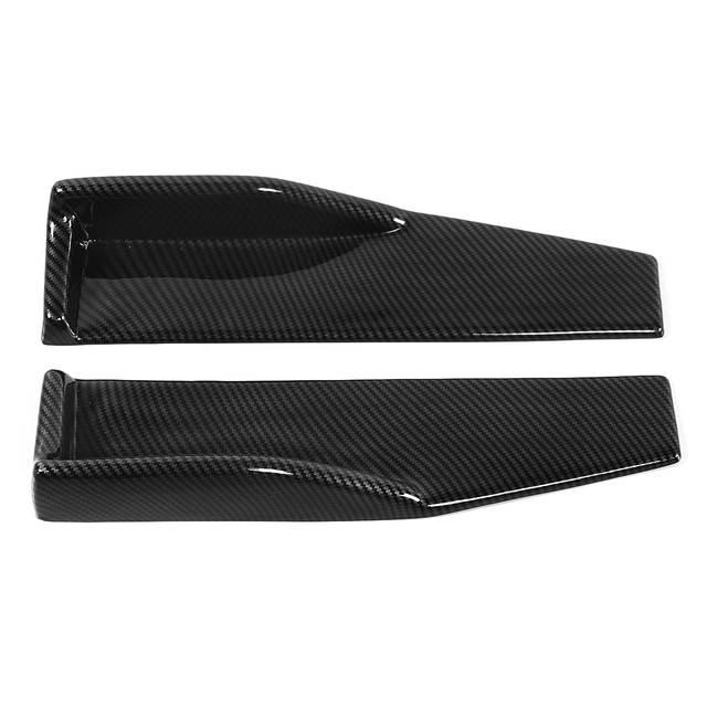 Universal Car Body Side Skirts Stickers Rocker Splitters Diffuser Winglet  Wings Bumper Car Carbon Fiber Color Look Modified