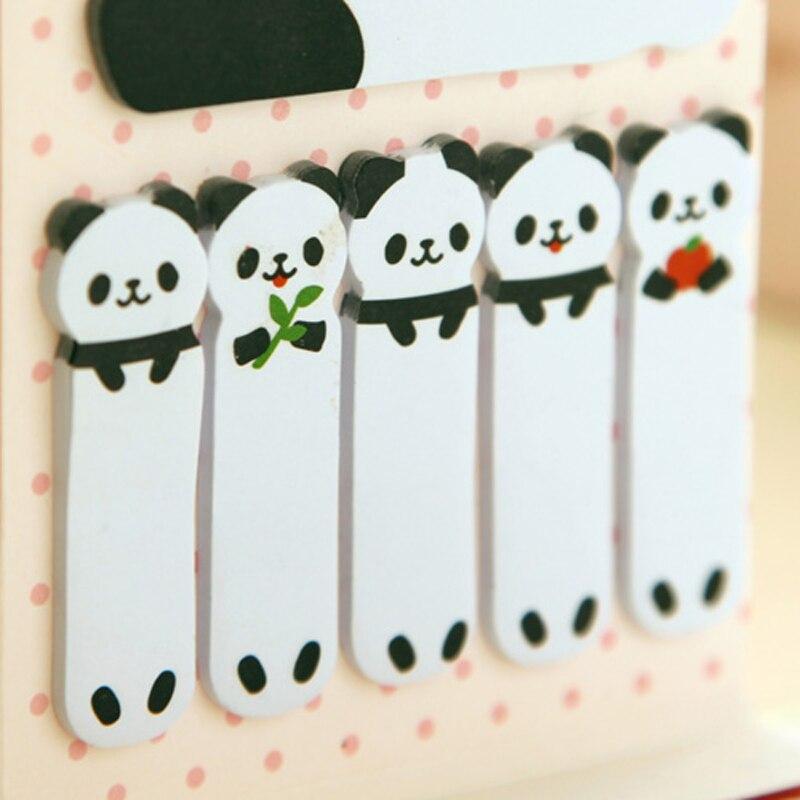 1X Lucu Kawaii Kartun Panda Burung Kucing Self-Adhesive Memo Pads - Notebook dan menulis bantalan - Foto 6