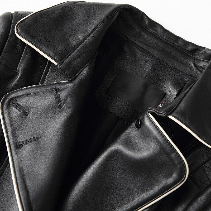Réel Long Mouton Véritable Manteau Femmes En Hiver Chaqueta Coréen Peau Mujer Vêtements Zl764 Black De Veste Automne Cuir Vestes 2018 w60I01qg