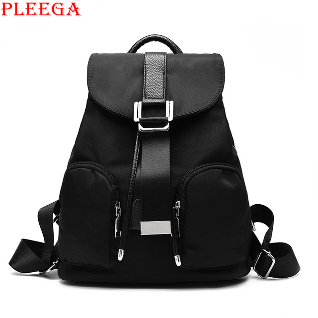 PLEEGA 2017 New Women Fashion Backpack High Quality Nylon Waterproof Backpacks Student School Bag for Teenagers Girl Book Bags