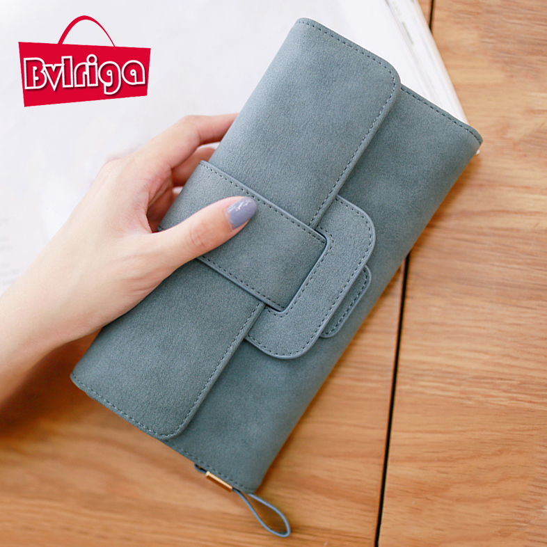 BVLRIGA Women wallets large capacity card holder nubuck leather wallet female clutch bag handbags famous brand long purse simple  bvlriga women wallets famous brand leather purse wallet designer high quality long zipper money clip large capacity cions bags