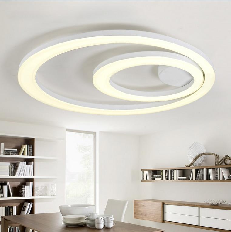white acrylic led ceiling light fixture flush mount lamp restaurant dining room foyer kitchen bedroom hotel lighting fitment. Interior Design Ideas. Home Design Ideas