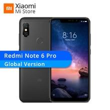 Yeni Küresel Sürüm Xiaomi Redmi Not 6 Pro 4 GB RAM 64 GB ROM Cep Telefonu Snapdragon 636 Çift Ön kamera 6.26