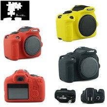 Силиконовая кожа брони чехол корпус протектор для Canon EOS 1500D 2000D Rebel T7 Kiss X90 цифровая камера