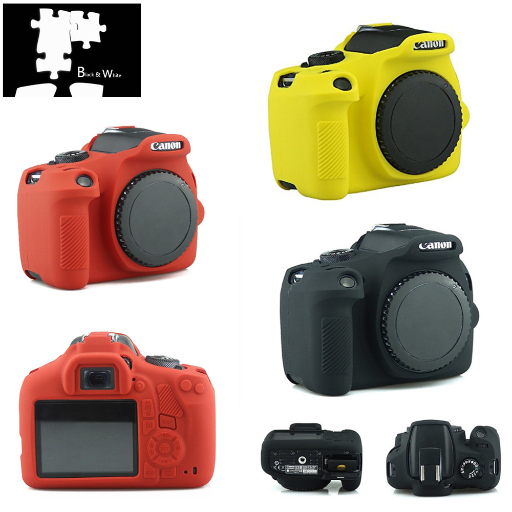 Protector Skin-Case Body-Cover Digital-Camera Rebel 1500D Silicone 2000D Canon Eos Armor title=
