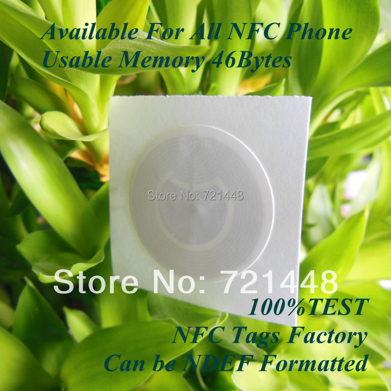 100pcs Ultralight NFC tag Available For All NFC Phone NFC Forum Type 2 tag Usable Memory 46 bytes