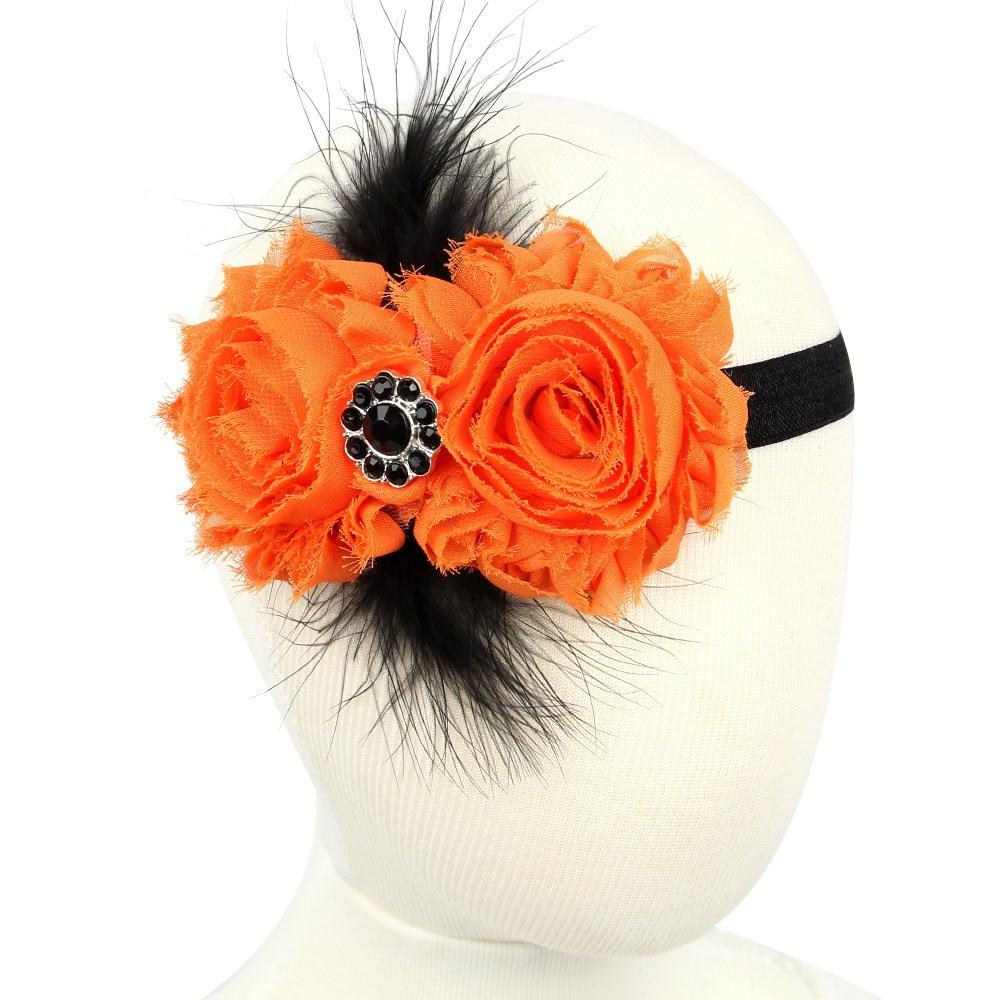 20pcs/lot orange sunflower halloween hair headbands for hair simple