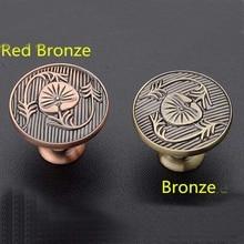 29mm Kitchen Cabinet Knobs Red Bronze Dresser Handles Antique Zinc Alloy Drawer Dresser Wardrobe Handles Pulls knobs Js84