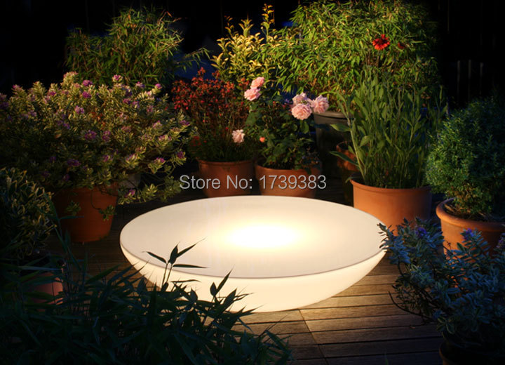 D92*H22 CM Remote control Led Illuminated Furniture,Lounge Variation LED,led coffee table rechargeable for Bars,EVENTS,Christmas