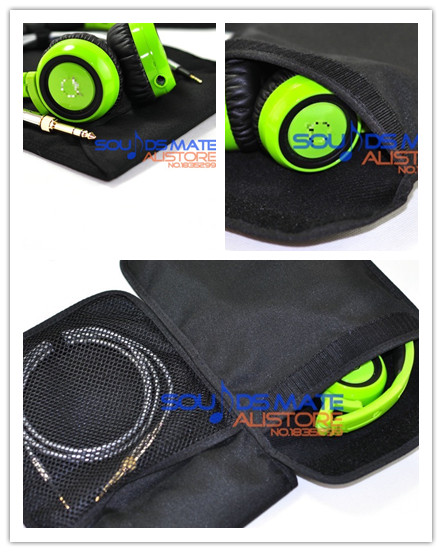 2Pcs Generic Portable Bag Pouch Case For AKG K430 K420 K450 K451 Q460 K412P Headphone