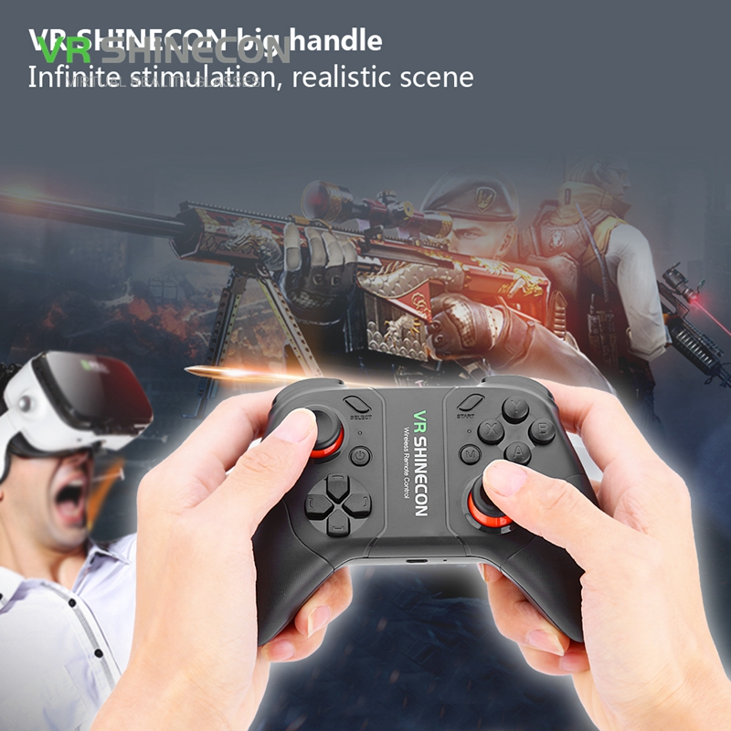 VR SHINECON Wireless Bluetooth Controller Gamepad Rechargeable Joystick For iOS Android