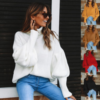 2018 Autumn Winter Women'S Sweater Turtleneck Pullover Female Pullover Christmas Sweater Plus Size Four Color High Collar