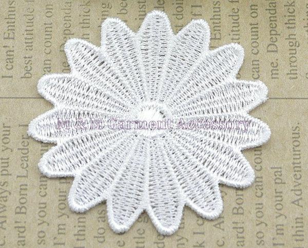 DIY Aplique de encaje soluble en agua 7 cm * 7 cm parche de tela de encaje para decoración del hogar